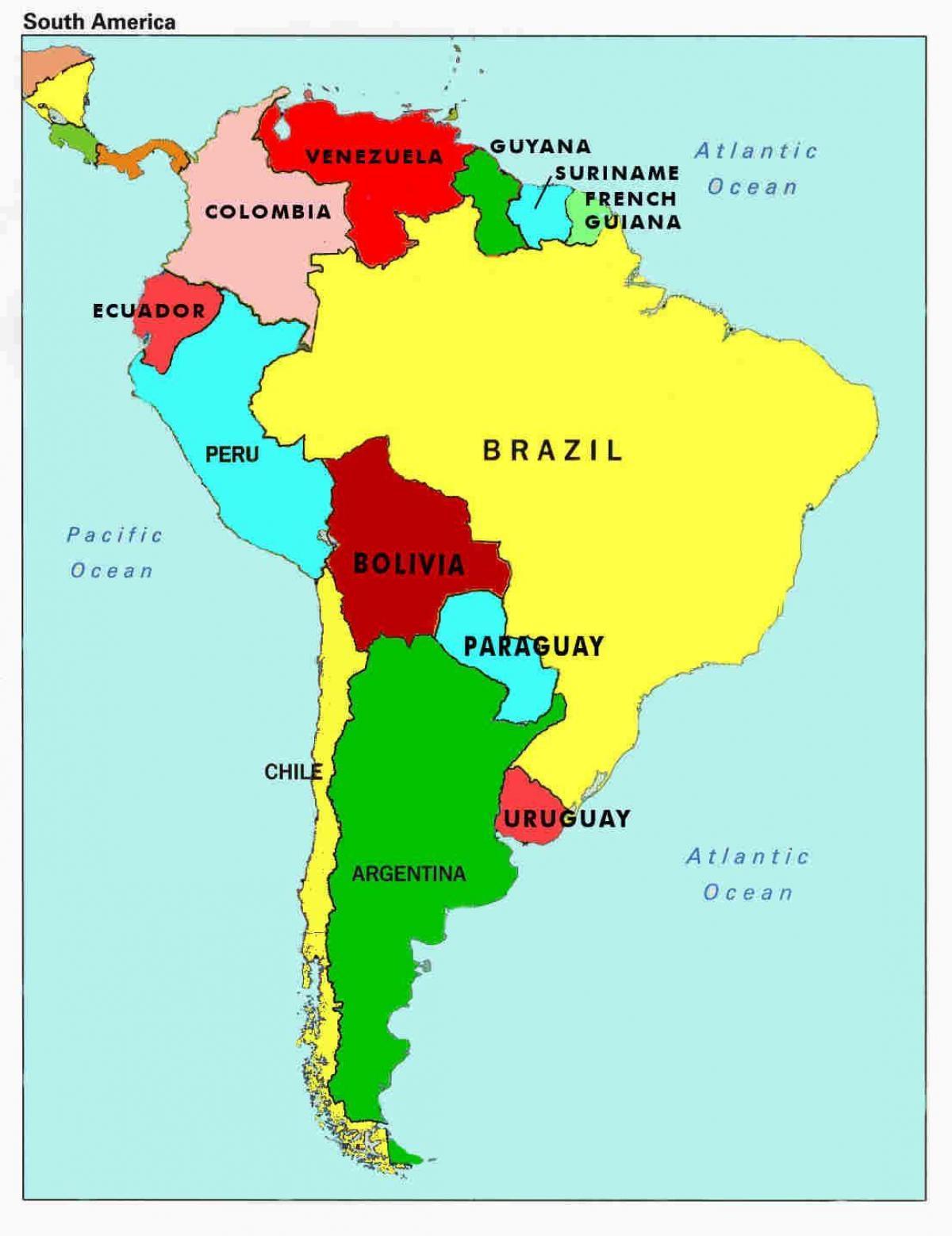 Venezuela Orszag Terkep Terkep Venezuela Valamint A Kornyezo